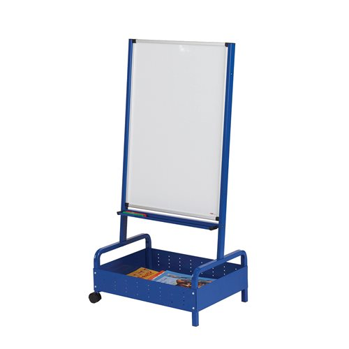 Whiteboard easel with storage