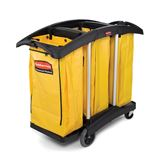 "Yellow refuse bag for ""Triple capacity cleaning cart"" (1 pc)"