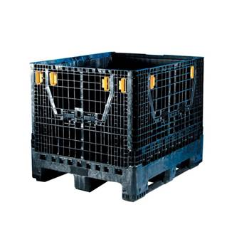 Heavy duty folding pallet container