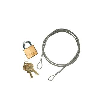 Anchoring cable kit for cigarette bin