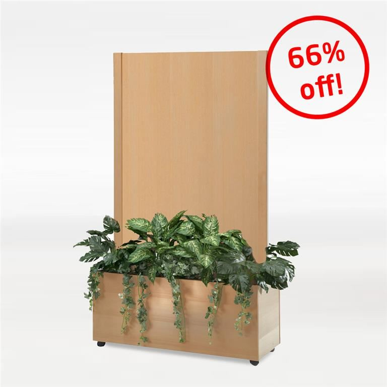 Trellis trough screen: solid: beech veneer