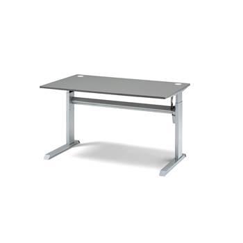 ... šedý elektrické polohovanie doska laminát šedý rozmery d 1200 x
