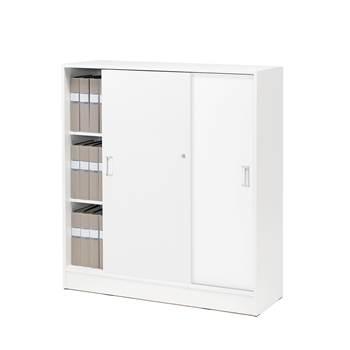 Szafy biurowe - Kolor korpusu: Biały, Kolor drzwi:, Biały