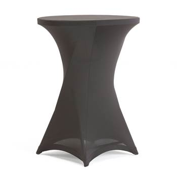 Stretch cover for bar table, black