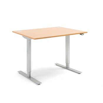 Flexus standing desk, straight, 1200x800 mm, beech laminate