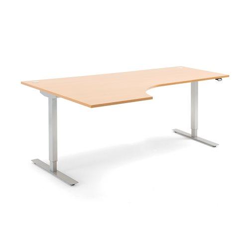 #en Flexus ergo desk, electric, 2000x1200 mm, beech laminate