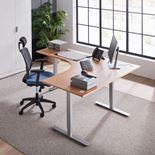 Sähköpöytä Flexus, kulma, 3-jalkaa, 1600x2000 mm, pyökkilaminaatti