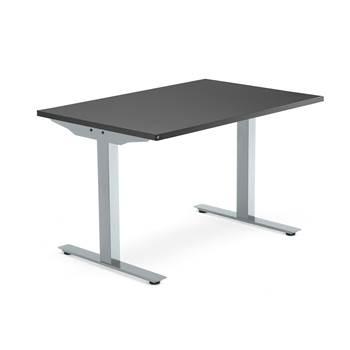 Modulus desk, T-frame, 1200x800 mm, silver frame, black