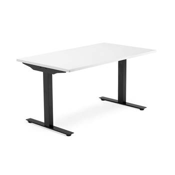 Modulus desk, T-frame, 1400x800 mm, black frame, white