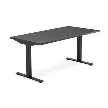 Skrivebord Modulus, t-stativ, 1800x800 mm, svart, svart