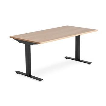 Skrivbord Modulus, t-stativ, 1600x800 mm, svart, ek