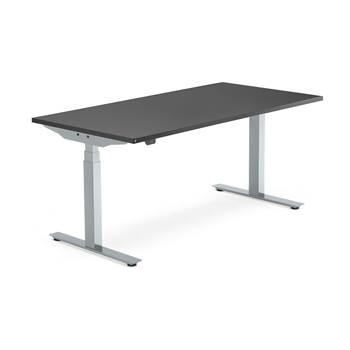 Skrivbord Modulus, el t-stativ, 1600x800 mm, silver, svart