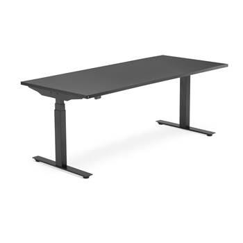 Skrivbord Modulus, el t-stativ, 1800x800 mm, svart, svart