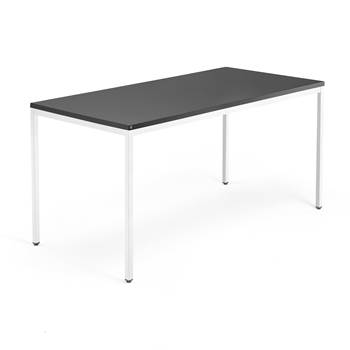 Modulus desk, 4-leg frame, 1600x800 mm, white frame, black