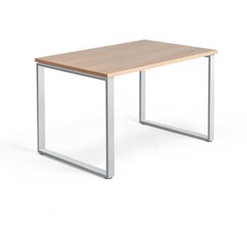 Skrivbord Modulus, o-stativ, 1200x800 mm, silver, ek