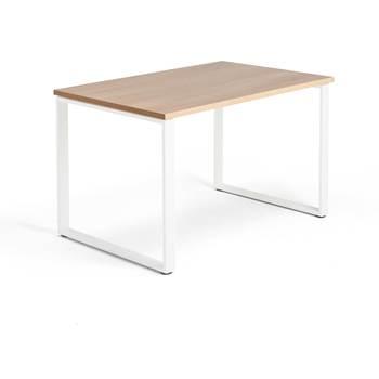 Skrivbord Modulus, o-stativ, 1200x800 mm, vit, ek