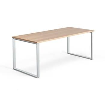 Skrivbord Modulus, o-stativ, 1800x800 mm, silver, ek