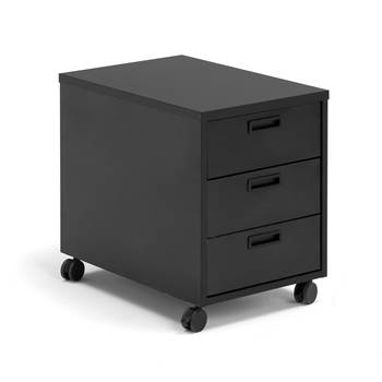 Modulus mobile pedestal, 3 drawers, black