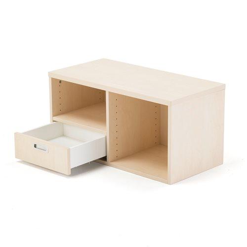 Kontenerek boczny do biurka Modulus, 1 szuflada lewa, brzoza