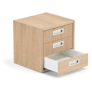 Modulus drawer unit, 3 drawers, oak