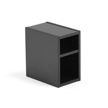 Szafka mała z półkami Modulus, czarna