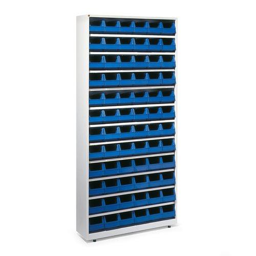 Stores bin cabinet: 2000x950x250mm: 72 bins