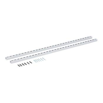 Wall rack rails