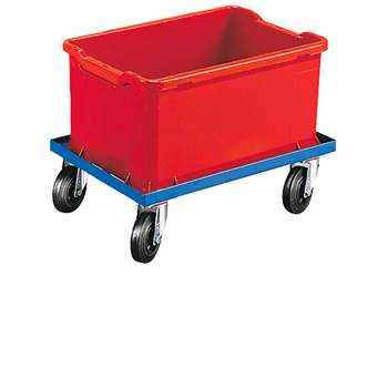 Trolley for boxes/crates, rubber wheels, 620x420 mm