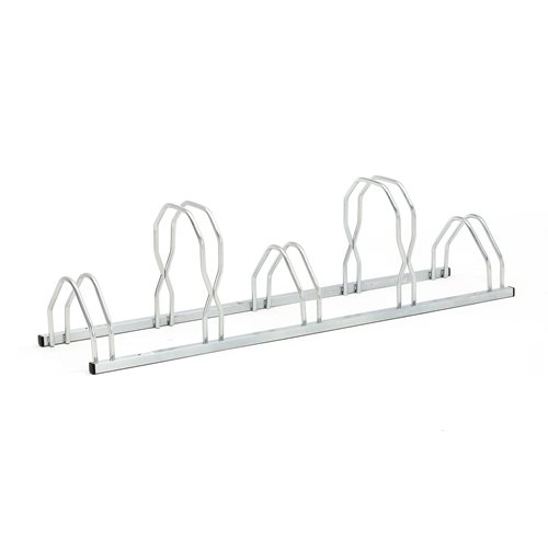 Wall or floor mounted bike rack: 5 bikes