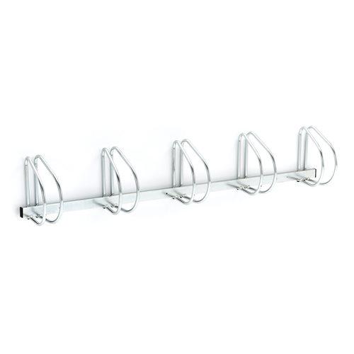 Wall mounted bicycle rack: 5 bikes