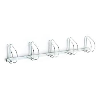 Wall mounted bicycle rack, 5 bikes, 320x1840x280 mm