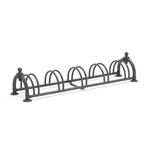 Czarny stojak na rowery