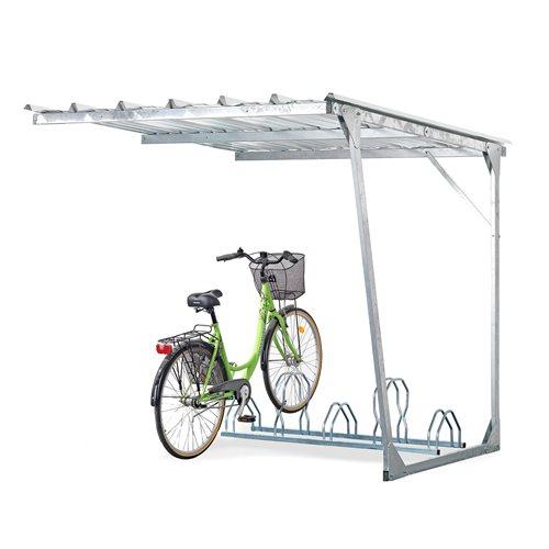 Påbyggnadssektion cykelskjul