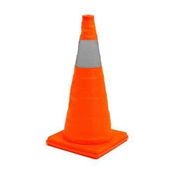 Collapsible traffic cones, H 620 mm