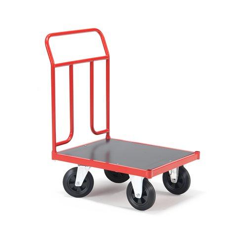 Wózek transportowy o wym 500x700mm, Typ kół: Guma pełna