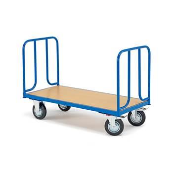 Wózek platformowy z platformą z litego drewna