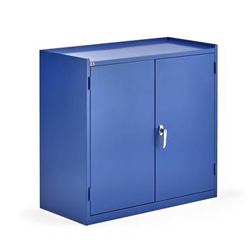 Workshop cabinet, 2 drawers, 900x950x450 mm, blue