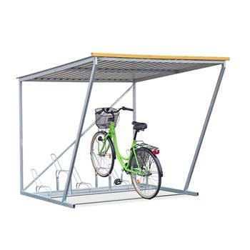 Cykelgarage, 6 platser, inklusive cykelställ