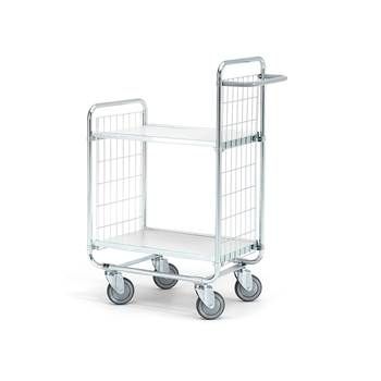 Shelf trolley, 2 shelves, 200 kg load, 600x425x1100 mm