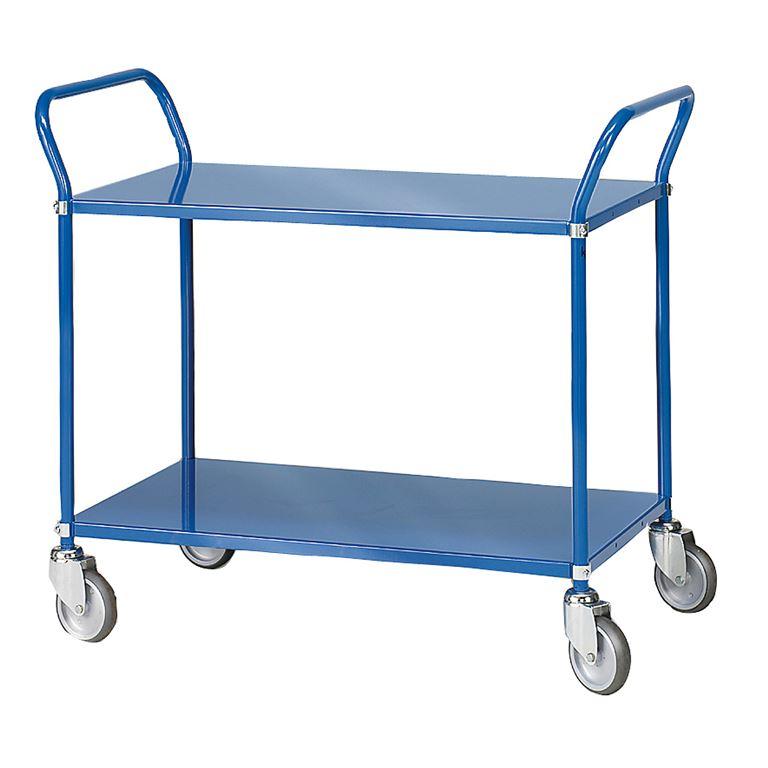 Hyllyvaunu, 2 hyllytasoa, sininen
