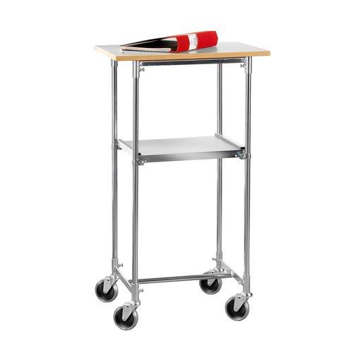 Mobilny stolik biurowy w kolorze jasno szarym 430x900x600mm