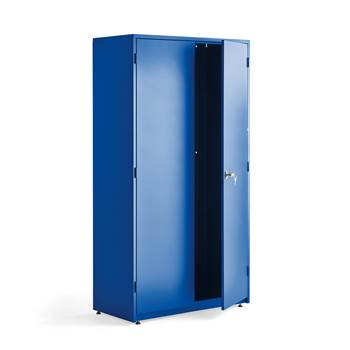Maskinskap i stål, 1900x1020x500 mm, blå/blå