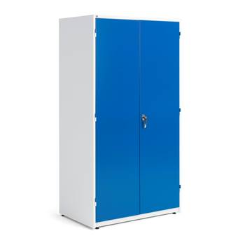Extra deep storage cabinet, 1900x1020x635 mm, white, blue