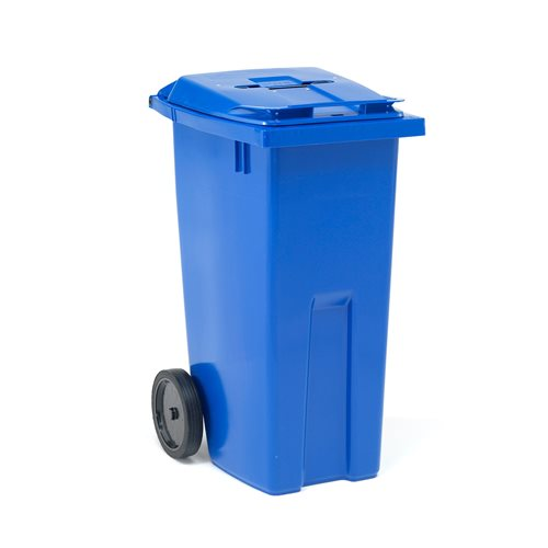 Recycling wheelie bin with paper slot