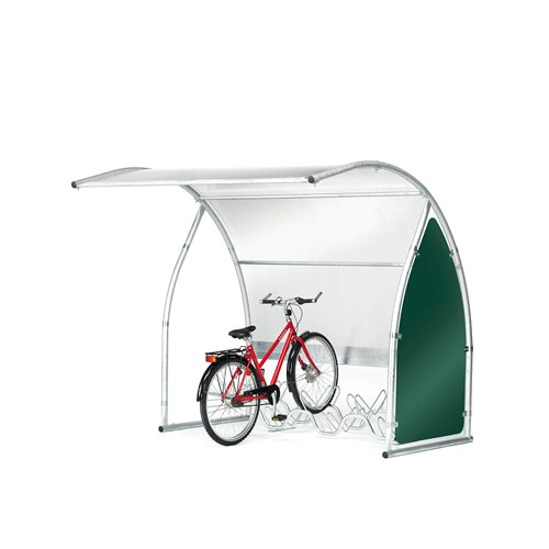 Cykelgarage, fristående, påbyggnadssektion