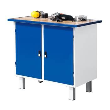 Stół warsztatowy Flex z nogi, 2 drzwi