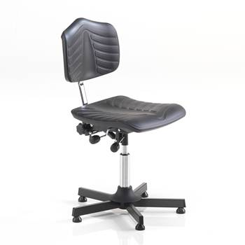 Comfy industrial chair, low, black
