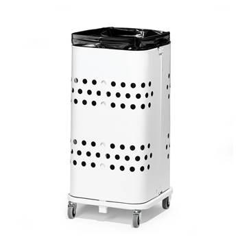 Säckvagn utan lock, 60 liter, vit