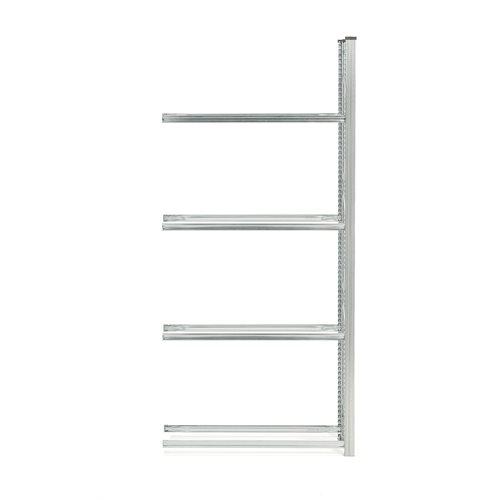 #en Tyre rack, 4 levels, add on unit, 2500x1200x400 mm