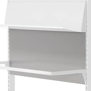 Ryggplate til butikkhylle, 3-pk